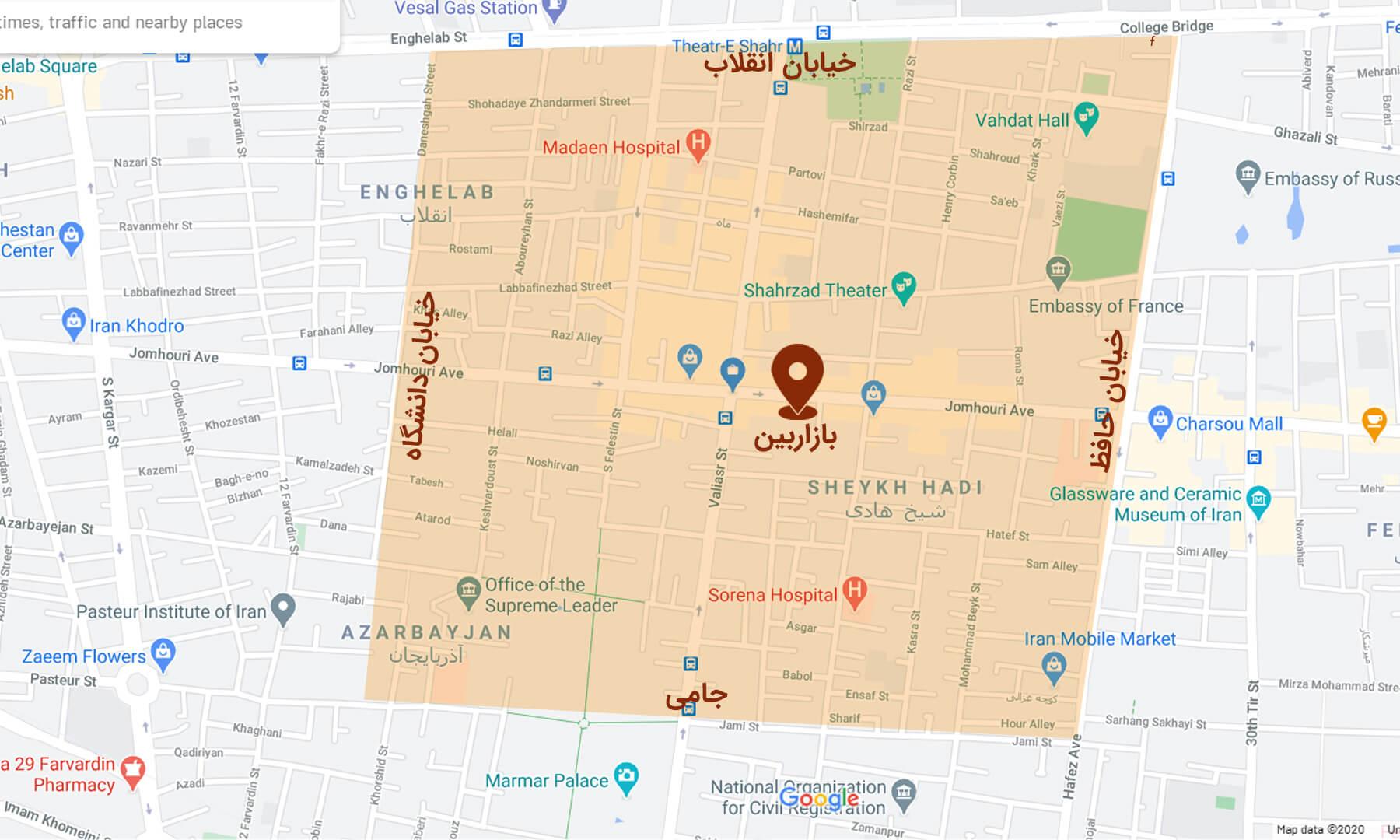 نقشه-محدوده-رایگان-ارسال-سفارشات-از-منو